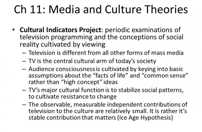 MEDIA AND CULTURE THEORIES