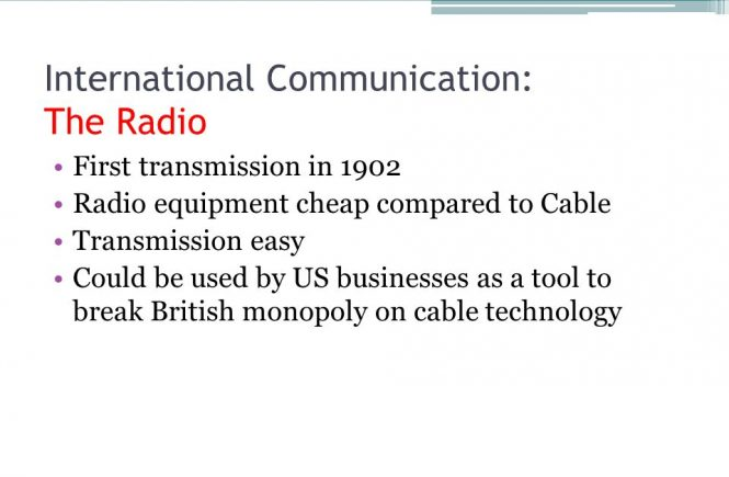 Radio and International Communication